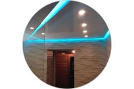 Парящий потолок с подсветкой